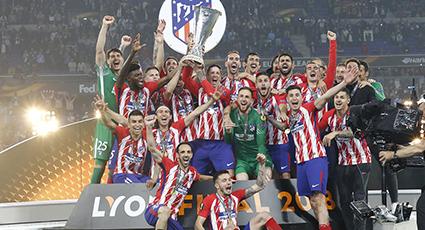 Un Atlético imperial se proclama campeón de la Europa League en Lyon (0-3)