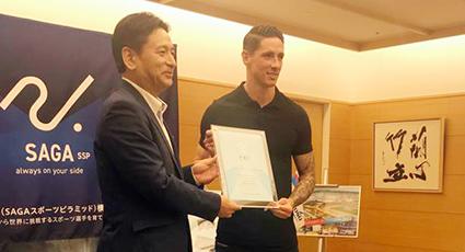 """Torres, embajador de Saga: """"Contribuiré a promover los valores del deporte en la juventud"""""""