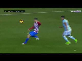 Golazo de Torres (1-1). Atlético de Madrid 3 - Celta de Vigo 2 (12-02-17) Primera división