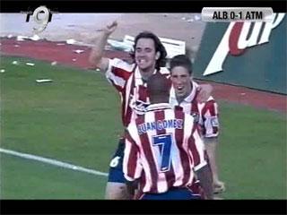 Estreno goleador de Torres con el primer equipo (0-1), Albacete 0 - Atlético de Madrid 1 (Segunda división). 03-06-01