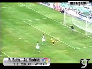 Gol de Torres (1-1), Betis 1 - Atlético de Madrid 2 (Primera división). 02-11-03