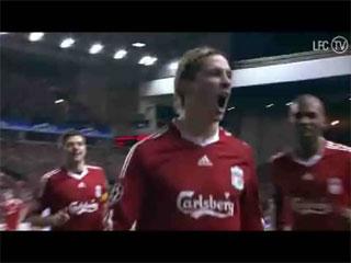 Gol de Torres (1-0), Liverpool 4 - Real Madrid 0 (Champions League). 10-03-09