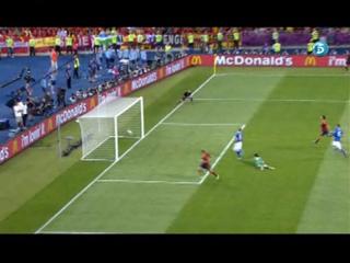 Gol de Torres (3-0), España 4 - Italia 0 (01-07-12) Final de la Eurocopa 2012